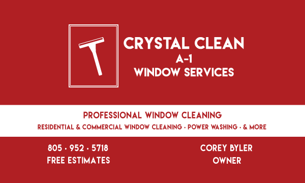 Image With Contact Information - Crystal Clean A1 Window Services