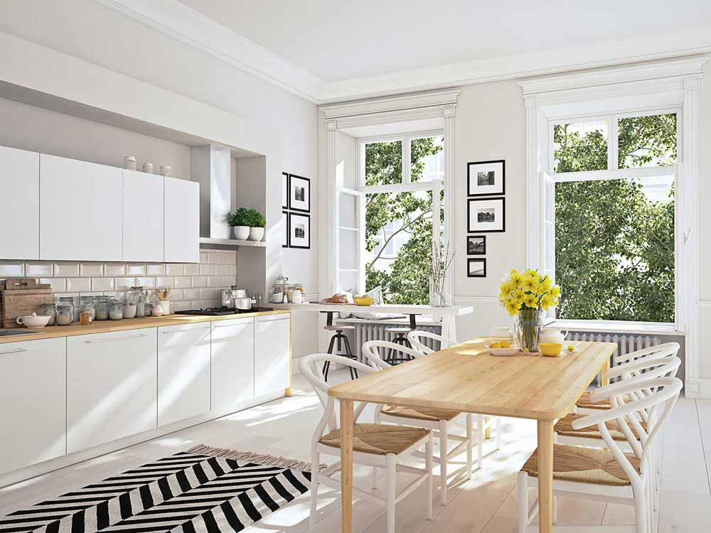 Bright Kitchen - Crystal Clean A1 Window Services